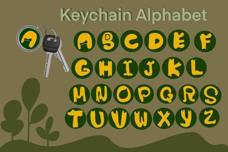 Keychain monogram alphabet sublimation