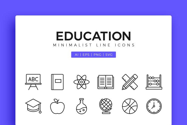 Education Minimalist Line Icons