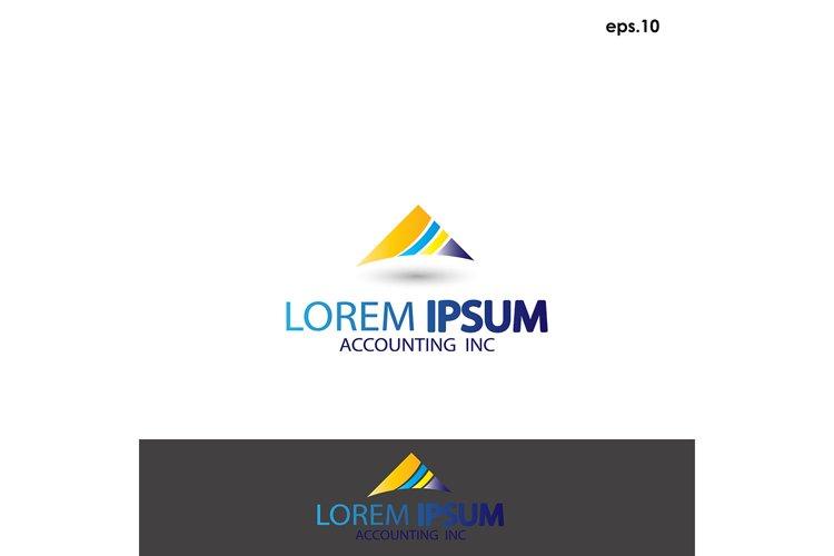 Abstract vector logo accounting example image 1