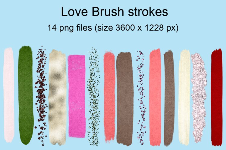 Love brush strokes example image 1