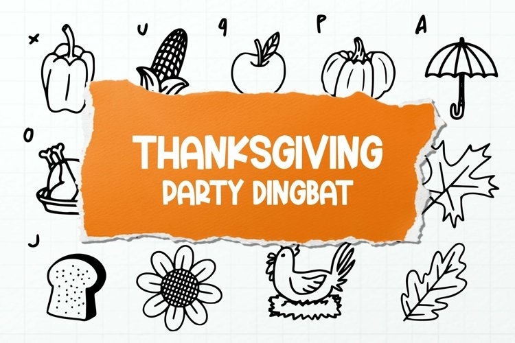 Web Font Thanksgiving Party Dingbat Font example image 1