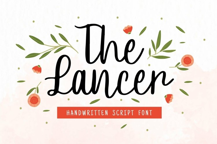 Web Font Lancer Font example image 1