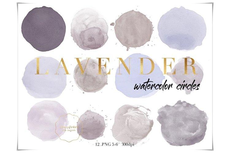 Purple Watercolor Circles Clipart