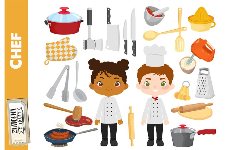 Chef Clipart Cooking Party clip art Cook Clipart Utensils