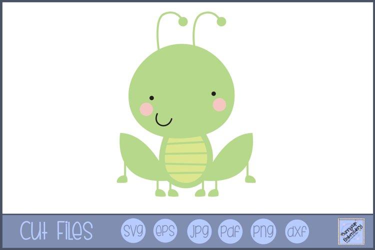 Grasshopper SVG | Cute Bug SVG example image 1