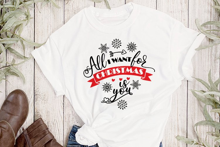 Christmas SVG, All I Want For Christmas Is You example image 1
