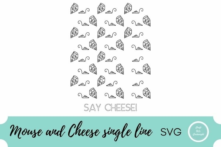 Mouse and cheese pattern| single line