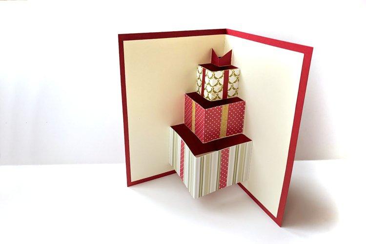 Gift Box Pop Up Card SVG & PDF Design example image 1