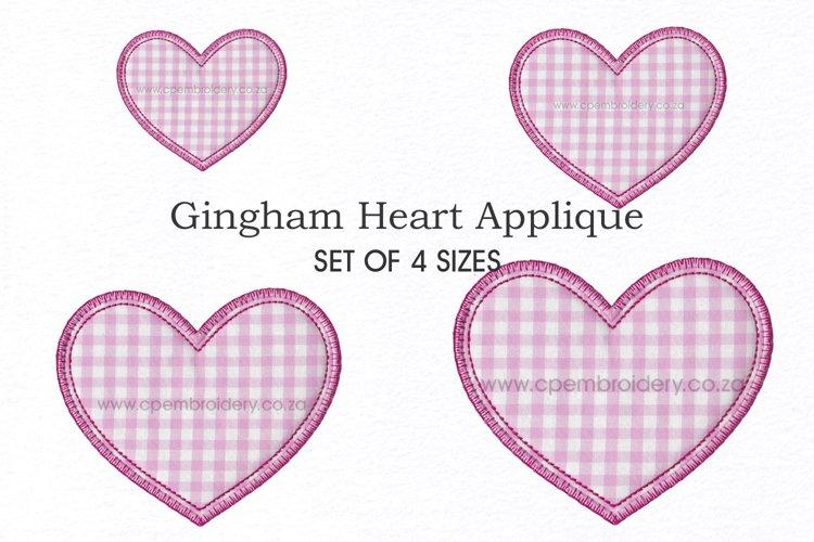 Simple Heart Applique Design example image 1