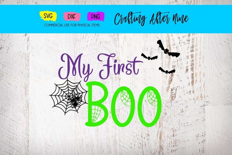 My First Boo with Spiders, First Halloween, Bat Web example image 1