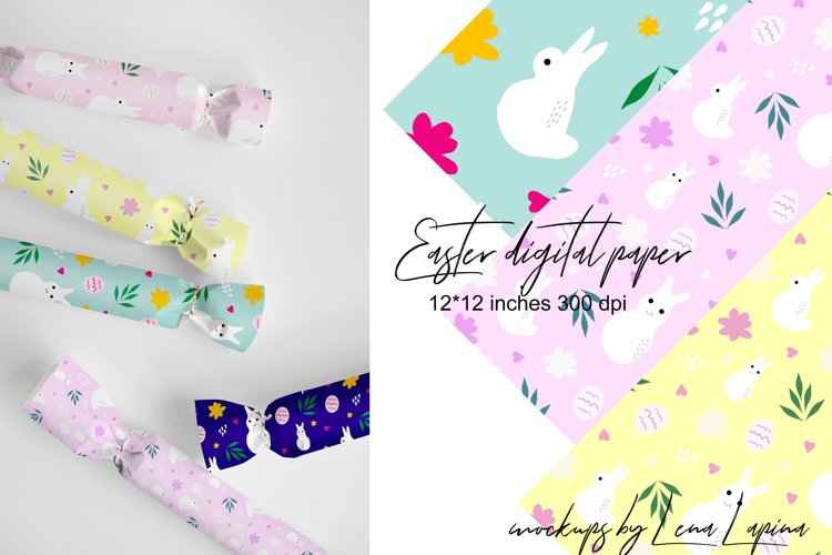 Easter Digital Paper. Easter Seamless Patterns. example image 1