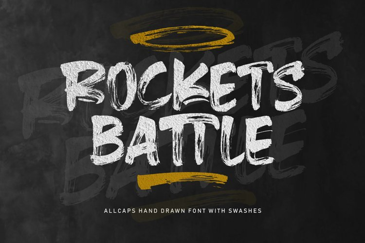 Rockets Battle Hand Drawn Font example image 1