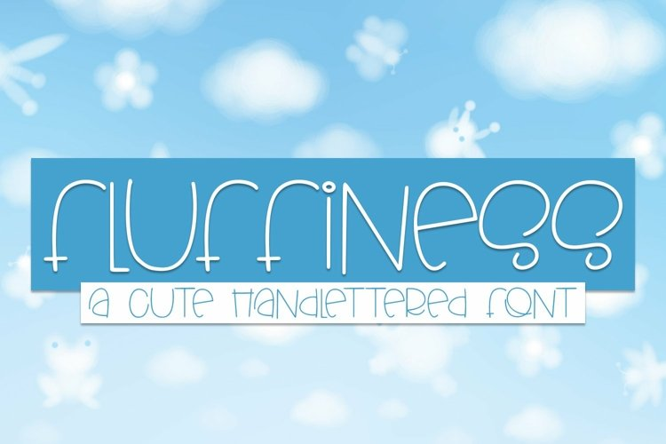 Web Font Fluffiness - A Cute Hand-lettered Font example image 1