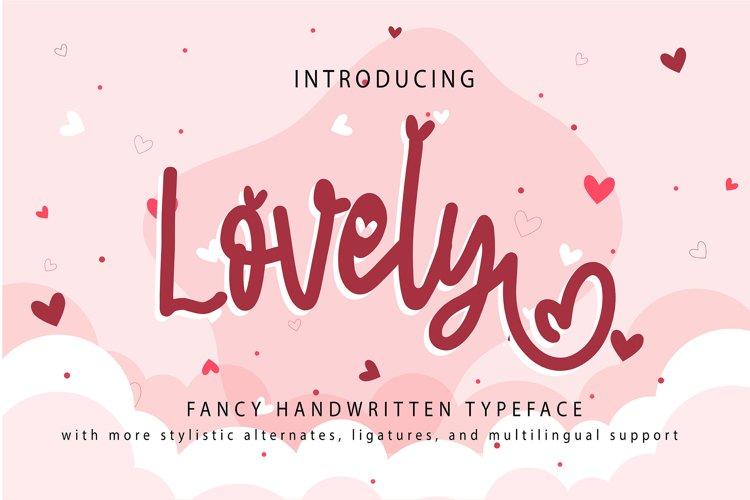 Lovely   Fancy Handwritten Typeface example image 1