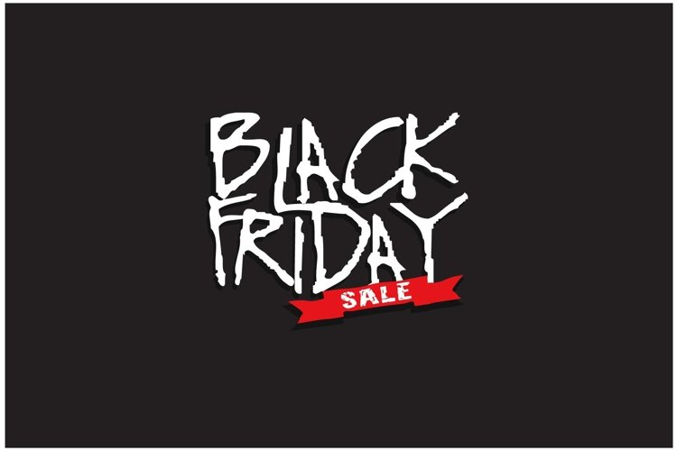 Abstract vector black friday sale layout background brochure