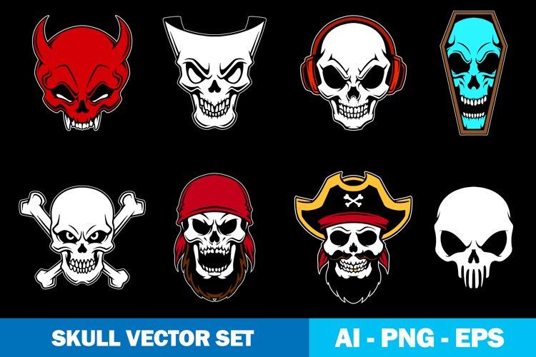 Skull Logo Vector set