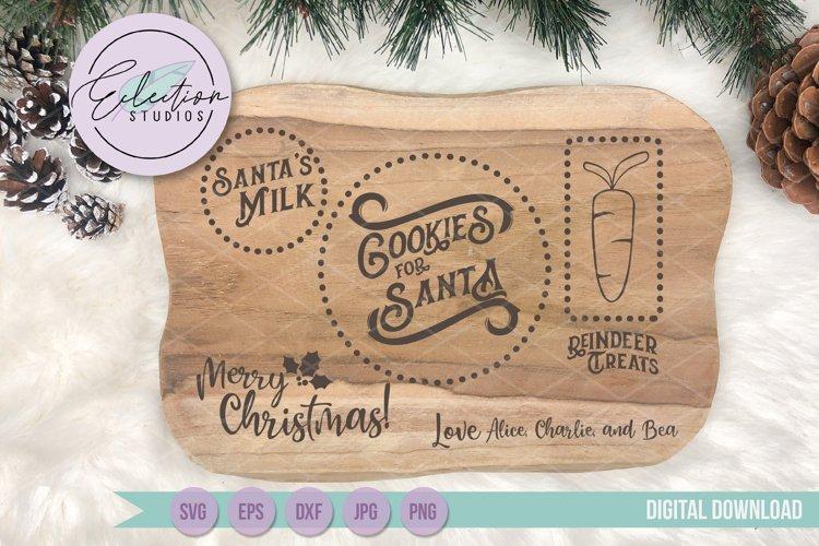 Cookies for Santa Tray SVG