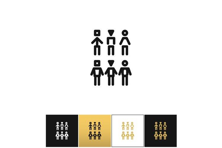 Society team community vector icon example image 1
