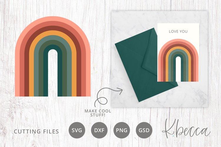 Arched Rainbow SVG Cut File