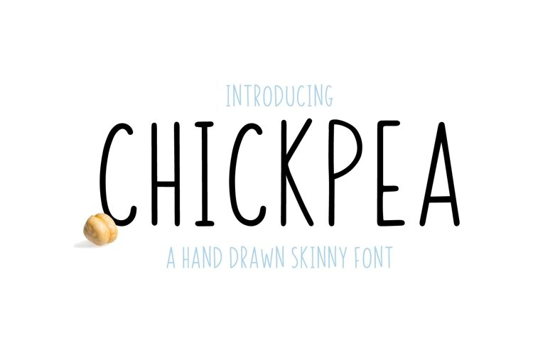 Chickpea | All Caps Skinny Font example image 1
