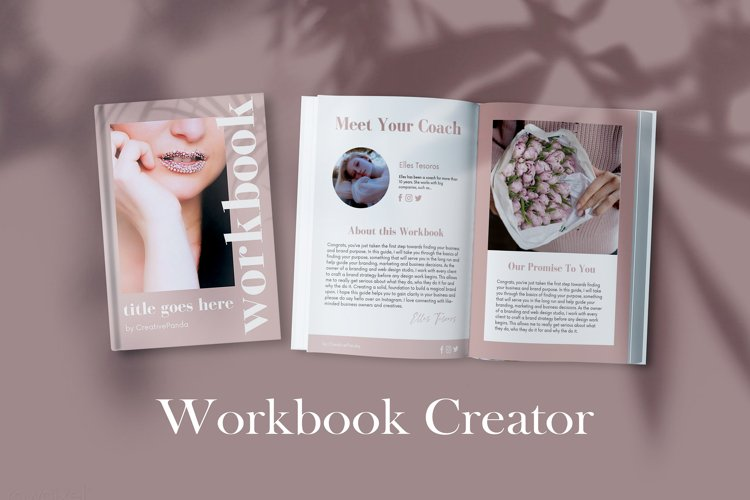 Workbook Canva Template, 60 Pages Ebook Template Lead Magnet