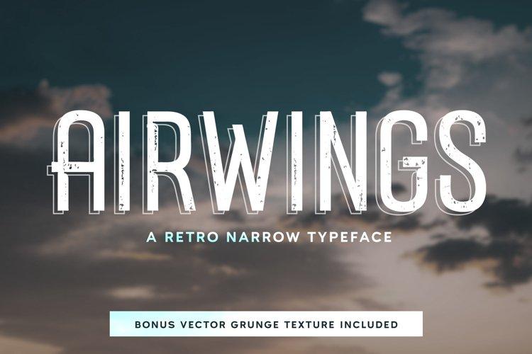 Airwings - Retro Narrow Sans Serif & Free Grunge Texture example image 1