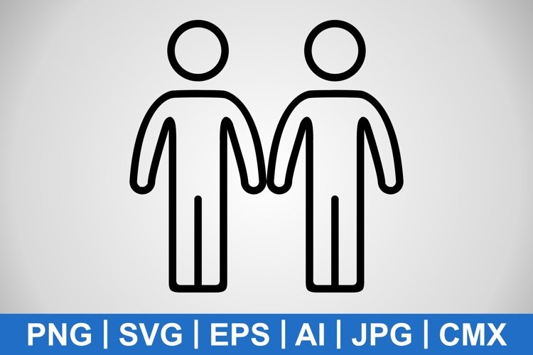 Vector Partnership Icon example image 1