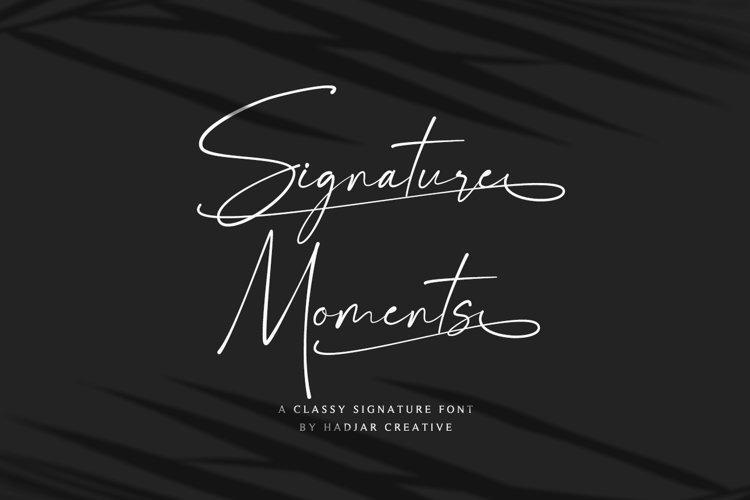 Signature Moments - Classy Signature Font example image 1