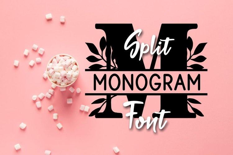 Bogi Split Monogram Font example image 1
