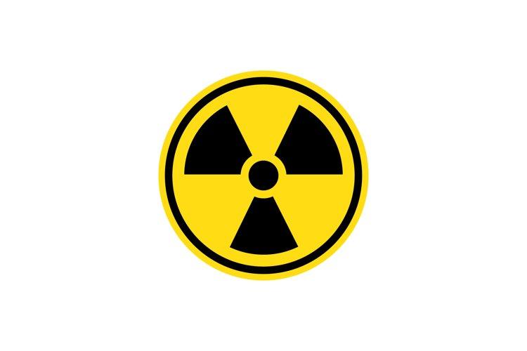 Radiation sign. Danger warning. Vector example image 1