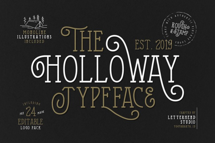 The Holloway Typeface and EXTRAS example image 1