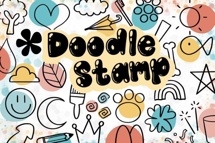 Doodle Procreate brushes, Procreate brushes, doodle stamp example image 1