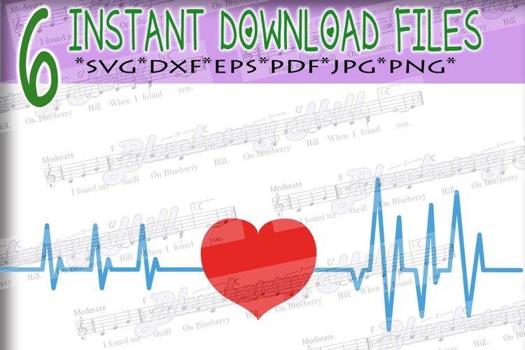 Heartbeat Svg - Valentines day SVG - Love Heart Svg - Heart