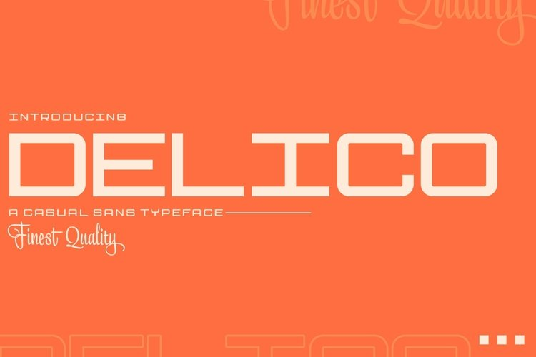 Web Font Delico example image 1