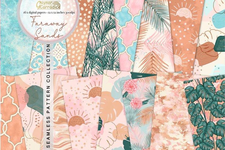 Faraway sands - Modern summer seamless patterns