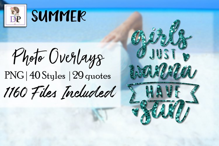 Summer Bundle Photo Overlays Art Social Media Photobook example image 1