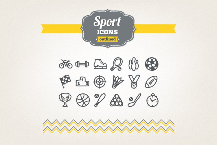 Hand Drawn Sport Icons example image 1