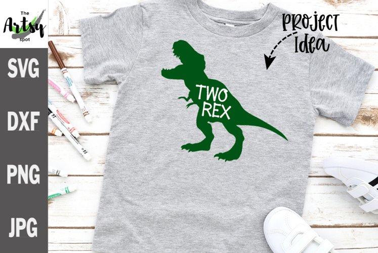 Two Rex, 2nd birthday Dinosaur SVG tyrannosaurus rex svg
