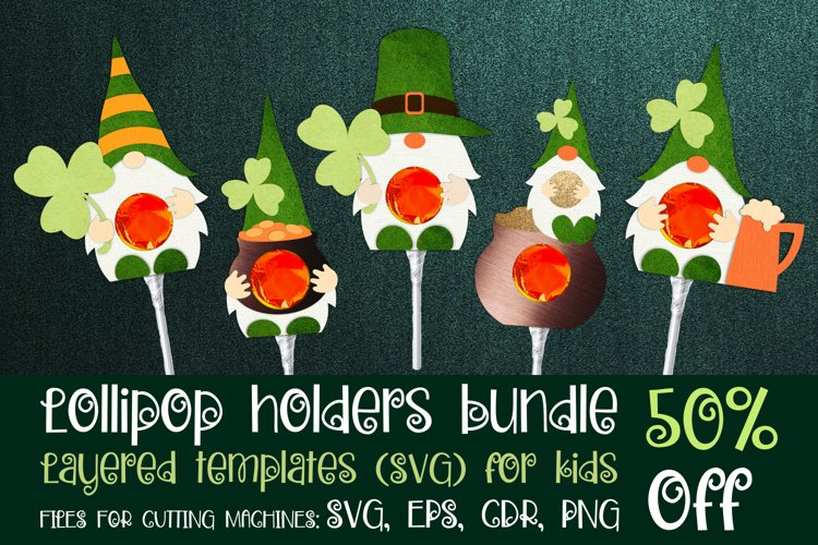 St. Patricks Gnomes - Lollipop Holders bundle SVG