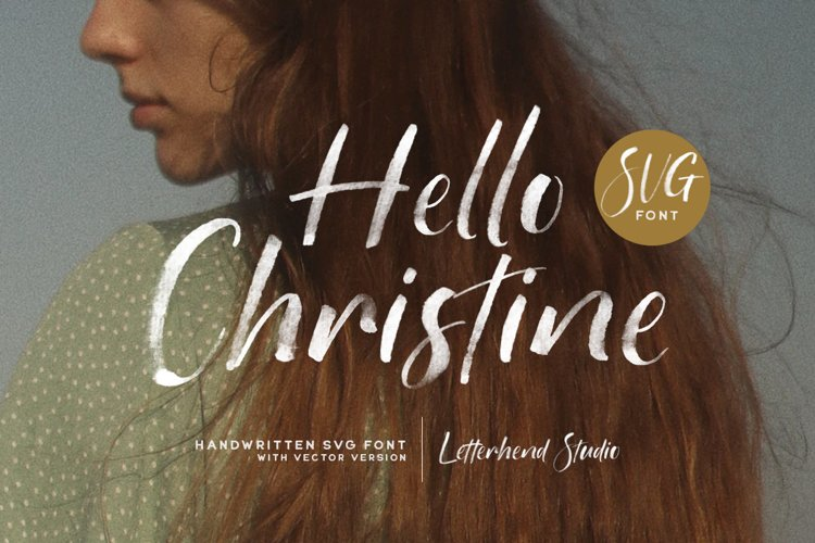 Hello Christine - SVG Font example image 1