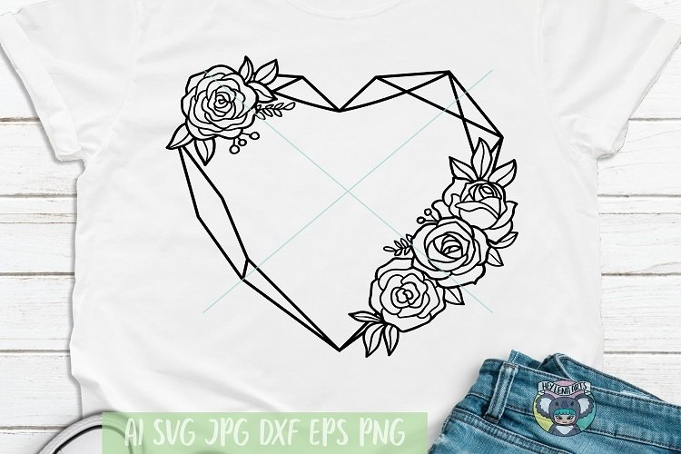 Floral Heart svg, Flower Frame, Mothers Day, Cricut File