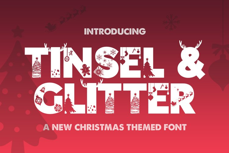 Tinsel & Glitter Silhouette Font example image 1