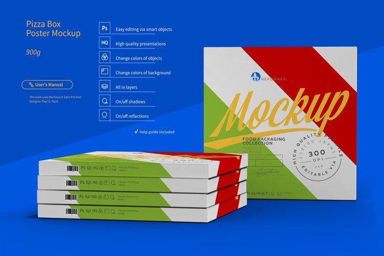 Pizza Box Poster Mockup example image 1