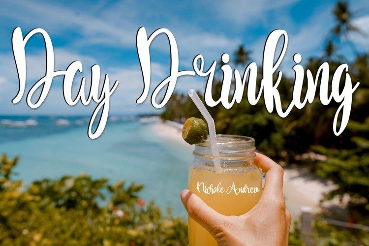 Day Drinking - A Handwritten Script Font