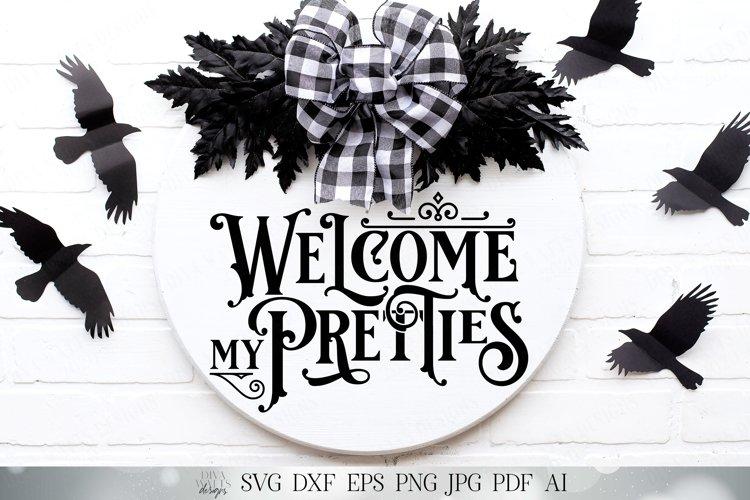 Welcome My Pretties | Halloween SVG | Witch SVG | Wreath SVG