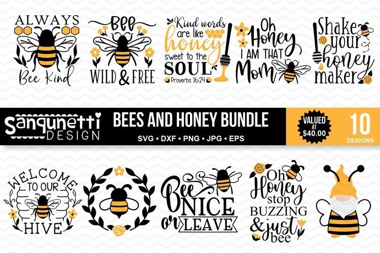 Bees and Honey SVG Bundle - 10 Designs