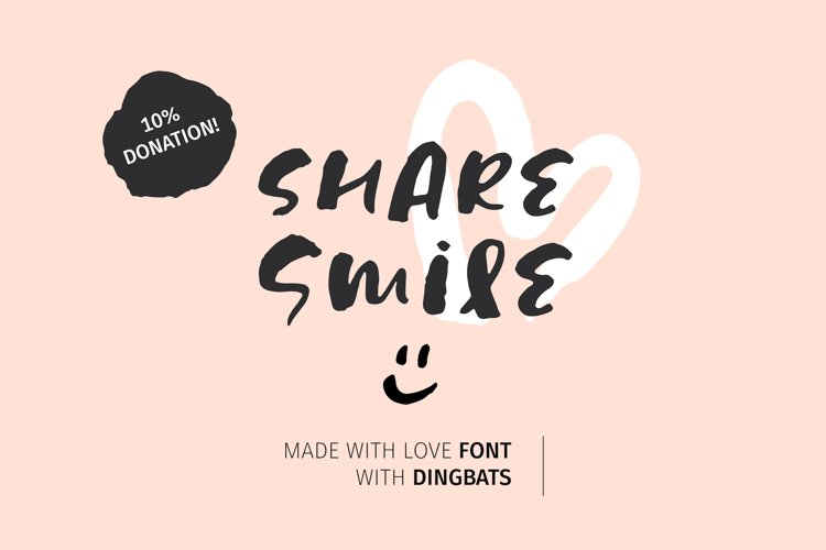 Share Smile - Brush Font Dingbats example image 1