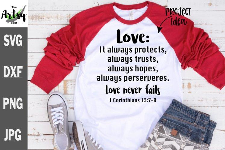 Love svg, Love quote svg, Love scripture svg, 1 Corinthians