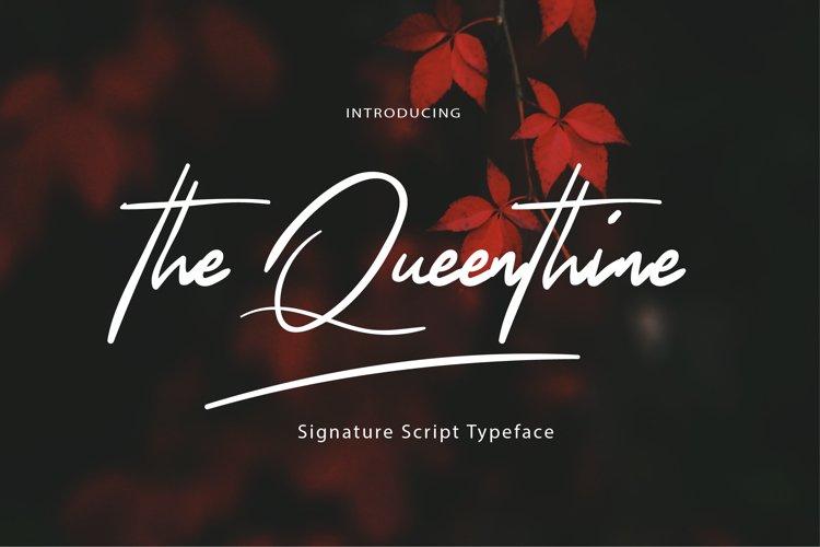 The Queenthine - Signature Script Font example image 1
