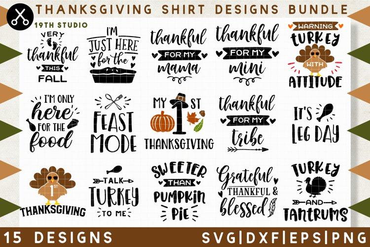 Thanksgiving shirt designs SVG Bundle  SVG DXF EPS PNG MB38 example image 1